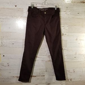 American Eagle Outfitters dark purple skinny jeans